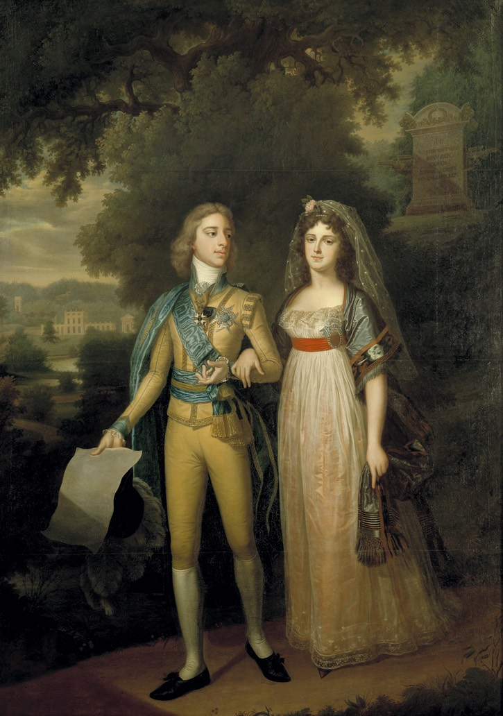 ca. 1800 Frederika Dorotea Vilhelmina of Baden and King Gustav IV Adolf of Sweden by K. G. Pilo or Jonas Forsslund (Gripsholms slott - Mariefred, Södermanland, Sweden) From the lost gallery's photostream on flickr