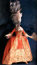 Generic Marie Antoinette ship coiffure and dress with tent bodice