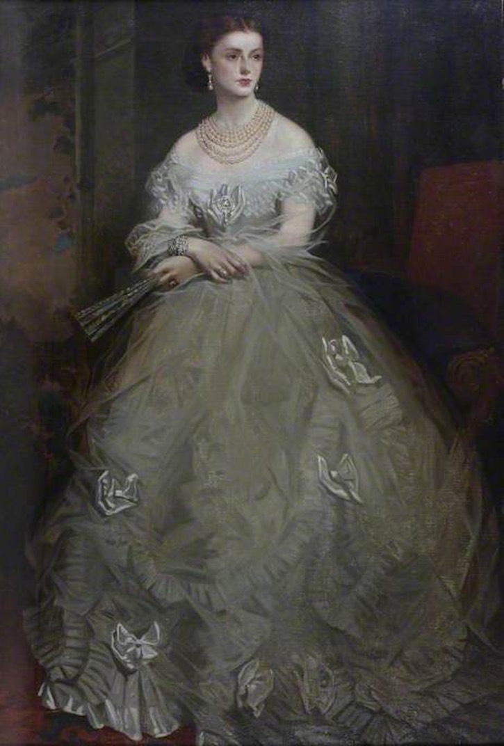 Georgina Ward (1846–1929), Countess of Dudley by Richard Buckner (The Dudley Group of Hospitals NHS Foundation Trust not on display) UPGRADE From theesotericcuriosa.blogspot.com:2013:08:paying-for-privilege-messrs-bertram.html X 2