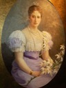 Grand Princess Ella, née Hesse, by Fedor Ivanovich Rerberg (location ?) UPGRADE Wm fixed veiling reflection by right shoulder bckgnd