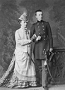 Olga Feodorovna Romanova of Russia with her eldest son, Grand Duke Nikolai Mikhailovich by Bergamasco From pinterest.com:awlaurendet:romanovs-%7E-the-mikhailovichi: despot detint X 1.5