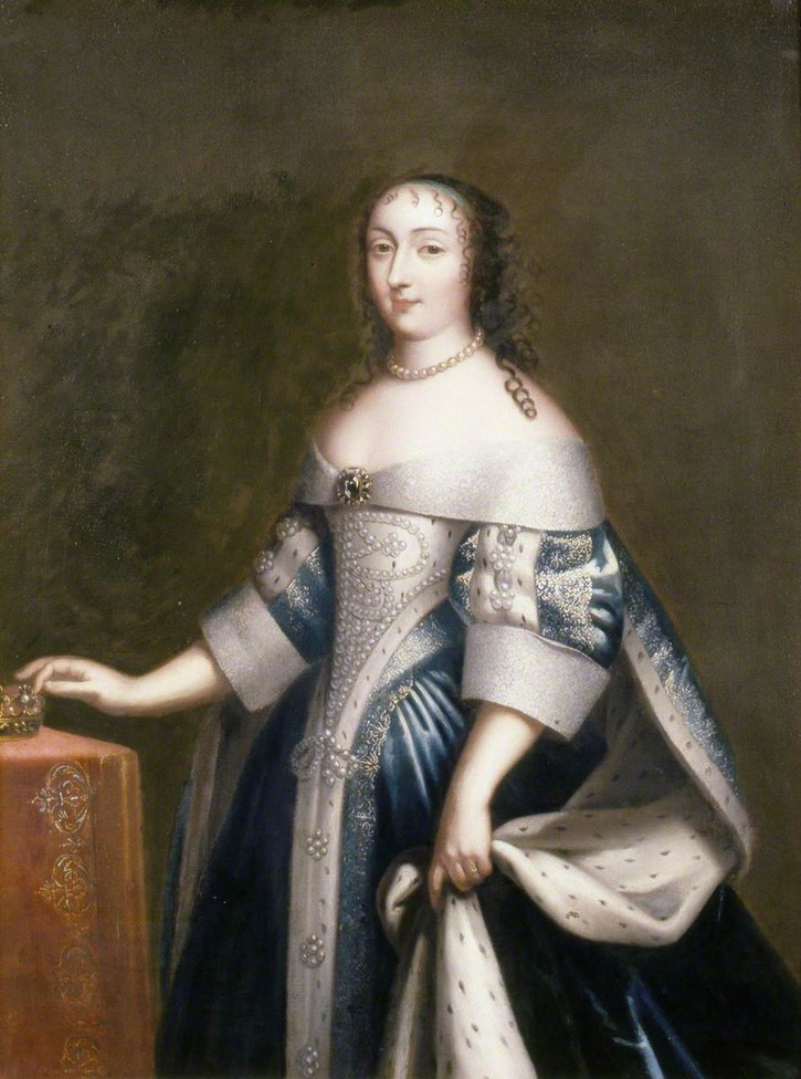 Henrietta Anne (1644–1670), Duchess of Orleans attributed to a member of the Beaubrun family (Brighton and Hove Museums and Art Galleries, specific location ? - East Sussex, UK) Wm