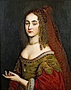 Henrietta Maria, Princess Palatine, third daughter of Elizabeth of Bohemia, by studio of Gerard van Honthorst (Ashdown House - Oxfordshire UK)