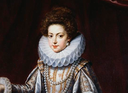 ca. 1615 Young Henrietta Maria by Pourbus the younger (location unknown to gogm) ruff