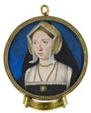 Miniature of Anne Boleyn by Lucas Horenbolt with tag misidentifying it as Catherine of Aragon