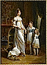 1812 (estimated) Hortense, Napoleon Louis, and Louis Napoleon by ? (Musées de l'île d'Aix, Île d'Aix France)