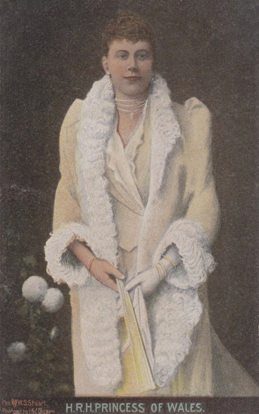 HRH Princess of Wales Stuart photo Colored Art Postcard EB fixed spots and flaws throughout image