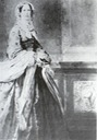 Princess Marianne of Prussia wearing a half-dome crinoline