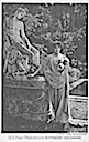 I. K. H. Princess Rupprecht von Bayern standing by statue post card