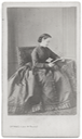1864 Eugenie de Montijo, Empress of the French with a book photographed by Sergei Levitsky