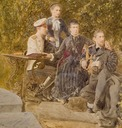 1883 Alexandra Iosifovna with children Dimitri, Olga, and Constantin by ? (location unknown to gogm)
