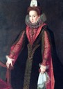 Isabel de Valois wearing hot pink-trimmed dress by Sofonisba Anguisola (location ?) the lost gallery