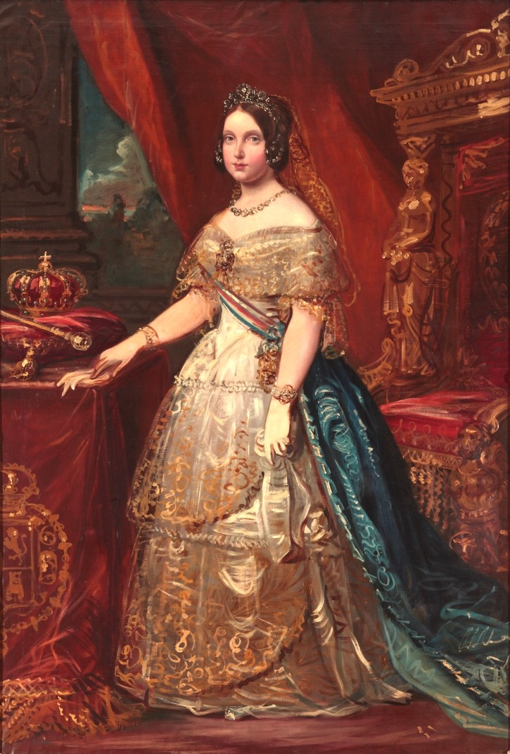 Isabel II by Federico de Madrazo y Kuntz (Museo Nacional del Prado) From museum's Web site increased exposure