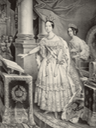Isabel II swearing allegiance to the Constitution