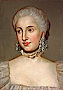 Isabella Borbone Parma, Archduchess of Austria wearing large diamond earrings by Anton Raphael Mengs (sold by Stair Sainty)
