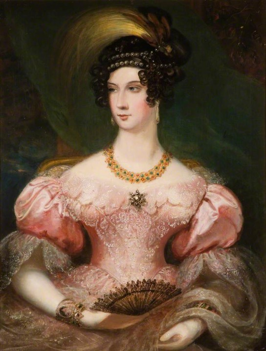 Jane, Marchioness Townshend (wife of George Ferrers Townshend) in the style of Sir Thomas Lawrence (Tamworth Castle - The Holloway, Ladybank, Staffordshire, UK) bbc.co