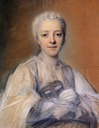 Jeanne Elisabeth de Geer, Baroness Tuyll by Maurice Quentin de La Tour (Musée Antoine Lecuyer - Saint-Quentin, Picardie, France) From WikiArt