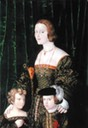 Juana of Castile with her two eldest children, Eleanor and Charles attributed to Nicolaus Alexander Mair von Landshut (location ?) From Kiki's photostream on flickr shadows