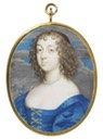 1638-1640 Katherine Howard, Lady d'Aubigny in blue by John Hoskins (Victoria and Albert Museum - London UK)