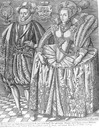 1610 King James I of England & Anne of Denmark (Queen consort) by Ronald Elstrack