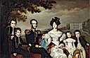 1832 King Willem II, Queen Anna Paulowna, and children by Jan Baptist van der Hulst (Dutch Royal Collection)