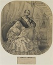 1856 The Imperial Family (Musee de la maison Bonaparte, Ajaccio Corsica France) lithograph on beige paper