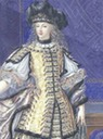 Duchess de la Vallière in Costume closeup