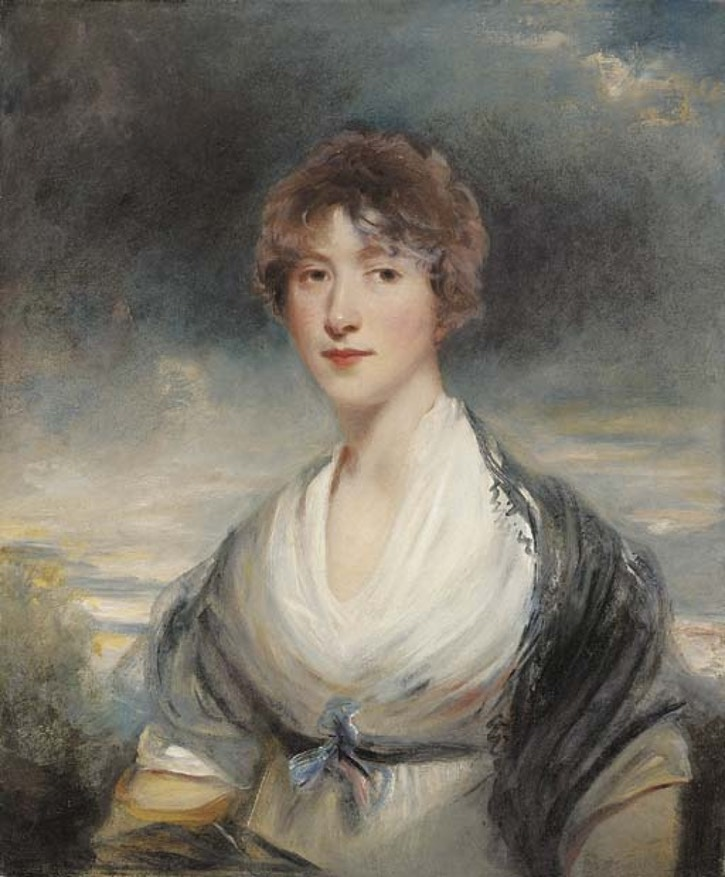 Lady Barbara Ponsonby, née Ashley-Cooper, half-length, in a white dress and black shawl, In a landscape by John Hoppner (auctioned by Christie's) From ehdu.livejournal.com:631189.html UPGRADE