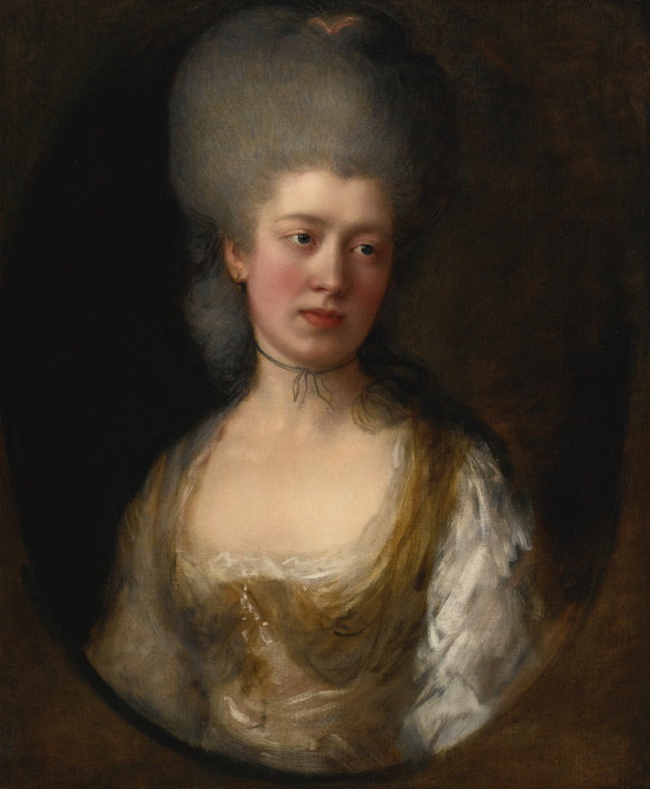 Lady Catherine Ponsonby, Duchess of St. Albans by Thomas Gainsborough (auctioned by Sotheby's) resized