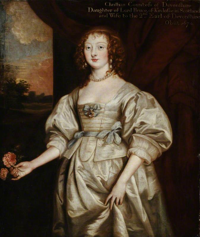 Lady Elizabeth Cecil (1619–1689), Countess of Devonshire by Sir Anthonis van Dyck (Hardwick Hall - Doe Lea, Chesterfield, Derbyshire, UK) From artuk.org