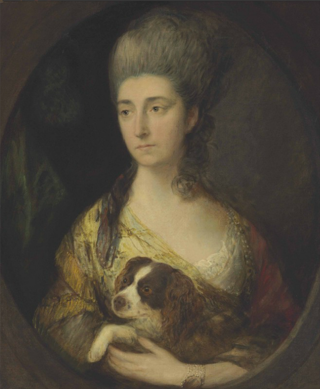 Lady Frederick Campbell, née Mary Meredith (Countess Ferrers) by Thomas Gainsborough (auctioned by Christie's) size fixed P283182