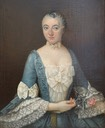 Lady from noble couple, Catherine Charlotte Roze, portraits by ? (Luc de Laval Antiquités à Vannes - Vannes, Bretagne France)