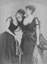 Lady Helen Vincent,Viscountess d'Abernon with her sister Hermione, Duchess of Leister