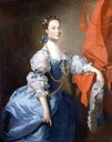 Lady in a Blue Gown (Lady Oxenden in a different pose) by Thomas Hudson (Mallett & Son Antiques)