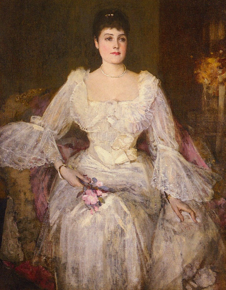 Lady Lyle by Sir John Lavery (private collection) From paintingsalley.com:lavery-sir-john-portrait-of-lady-lyle-painting-20528.htm