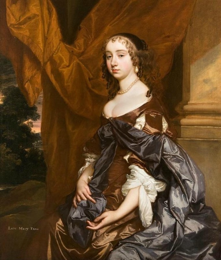1660s Lady Mary Fane by Sir Peter Lely (private collection) From Pinterest search