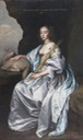 Lady Mary Villiers (1622–1685), Lady Herbert, Later Duchess of Lennox and Richmond, as Saint Agnes by Sir Anthonis van Dyck studio (sold by Woolley and Wallis) X 1.5