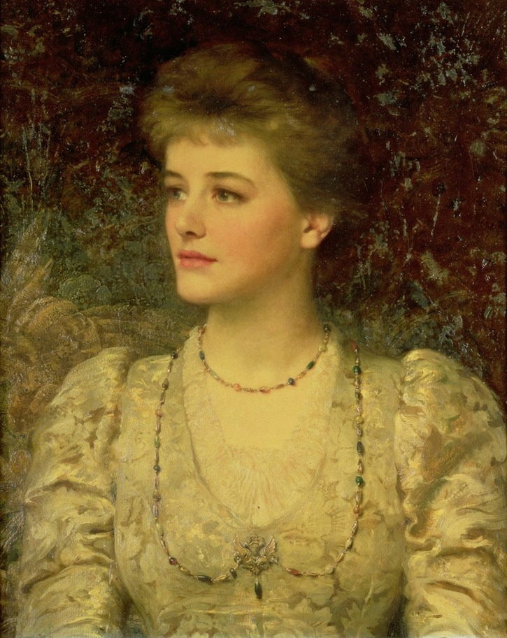 Lady Palmer, possibly Jean née Craig d.1909, by Sir Frank Dicksee (Roy Miles Fine Paintings) From hauk sven's photostream on flickr