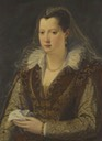 Lady, possibly Eleonora de Medici by Allesandro Allori (location unknown to gogm)