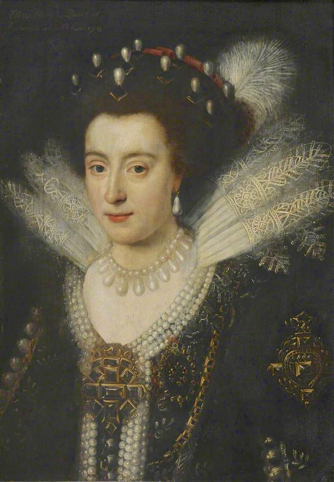 Lady, said to be Princess Elizabeth, 1596–1662, Queen of Bohemia in the style of Marcus Gheeraerts the younger (Corpus Christi College, University of Cambridge - Cambridge, Cambridgeshire, UK) From bbc.co shadows