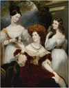 1830 Lady Stuart de Rothesay and her daughters by Sir George Hayter (British Embassy - Paris France)