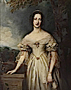 Lady Blanche Georgiana Howard, Duchess of Devonshire by John Lucas (Hardwick Hall - Doe Lea, Chesterfield, Derbyshire UK)