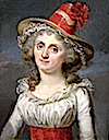 Lady wearing red hat from Family of Count Marie Gabriel Florent Auguste de Choiseul-Gouffier by ? (Leon Wilnitsky)