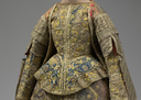 Late 16th century Spanish ensemble bodice, over-dress, vee waistline, and basque (Metropolitan Museum of Art - New York City, New York USA)