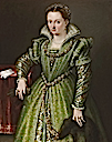 Laura Gonzaga in Green by Lavinia Fontana (Galerie Canesso - Paris France)