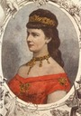 Lithograph of Empress Elisabeth