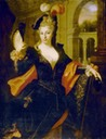 Louise Francoise, Duchesse de La Vallière with mask possibly by a follower of Nicolas de Largillière (location unknown to gogm)