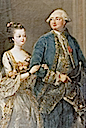 Louise Marie Adélaïde de Bourbon with her husband Louis Philippe Joseph d'Orléans by ? (location unknown to gogm)
