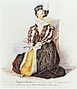 Louise, Queen of the Belgians costumed as Marguerite of Austria