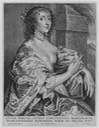 Lucy, Countess of Carlisle posthumous portrait engraved by Pieter de Bailliu the Elder after Sir Anthonis Van Dyck (National Portrait Gallery - London, UK) Wm X 1.5 detint